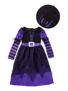 Travis Designs Girls Be Witched Witch Halloween Fancy Dress