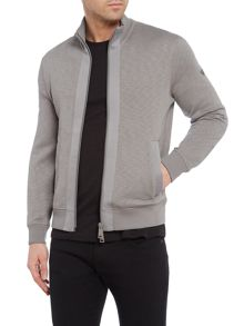 Armani Jeans Taped zip heather funnel neck sweatshirt