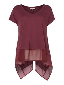 Label Lab Latimer Chiffon Mix Split Back Tee