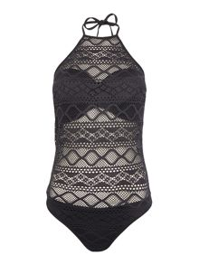 Freya Sundance high neck cut out swimsuit