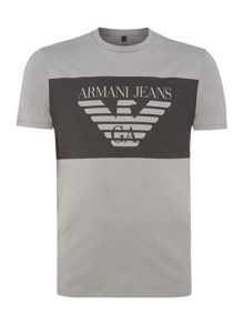 Armani Jeans Regular fit large chest banner logo t-shirt