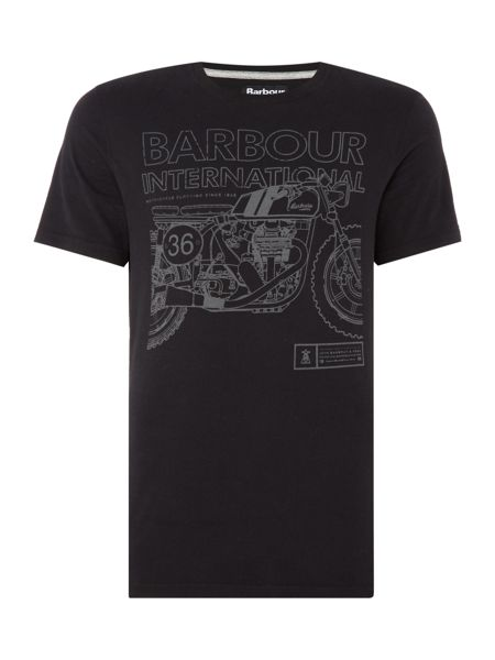 Barbour Motorcycle cad print t-shirt