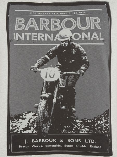 Barbour Motorcyclist photo t-shirt