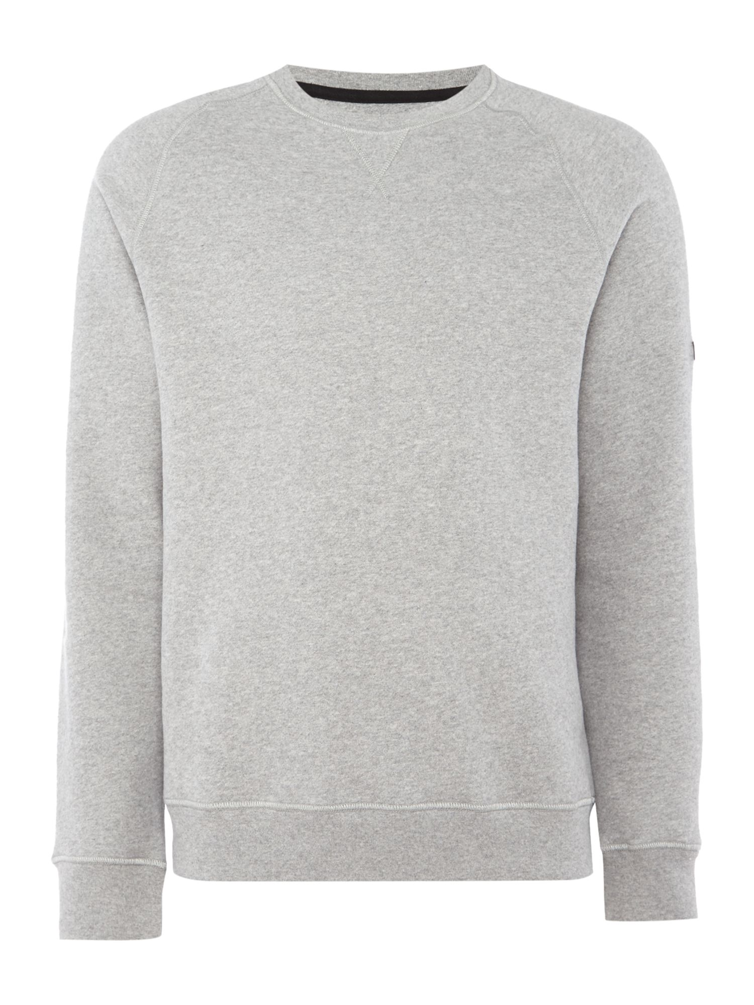 Men's Barbour Crew neck small logo sweatshirt, Mid Grey Marl