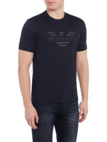Armani Jeans Regular fit eagle embroidered t-shirt