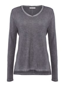 Maison De Nimes Long Sleeve Shore Wash Top