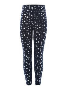 Little Dickins & Jones Girls Star Metallic Print Leggings