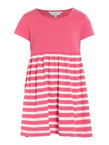 Little Dickins & Jones Girls Jersey Contrast Stripe Dress
