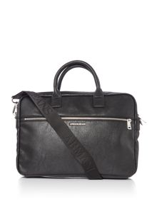 Armani Jeans Metal plaque logo laptop bag