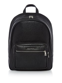 Metal plaque logo backpack