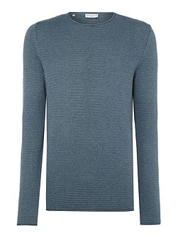 Textured-Knit Long-Sleeve Cotton Jumper