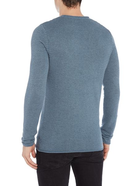 Selected Homme Textured-Knit Long-Sleeve Cotton Jumper