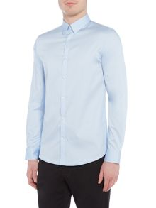 Selected Homme Plain Button-Through Long-Sleeve Shirt