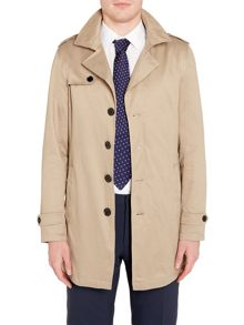 Selected Homme Button-Through Trench Coat