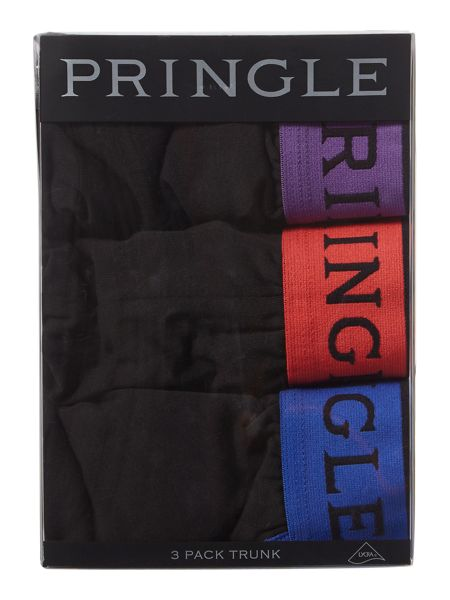 Pringle 3 Pack Contrast Waistband Trunks