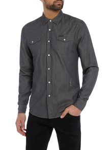 Religion Long sleeve denim shirt