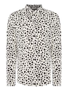 Religion All-over smudge heart print shirt