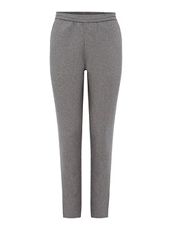 Melange Turn-Up-Hem Trousers