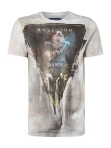 Religion Triangle collage print t-shirt