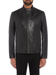 Hugo Lemy Leather Biker Jacket