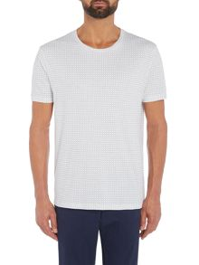 Hugo Drid Grid Check Crew Neck Tshirt
