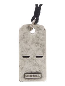 Diesel Grater Dog Tag Necklace