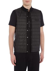 Barbour Baffle gilet knit back