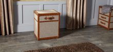Tetrad Harris Tweed Trunks Lift Lid Lamp Trunk