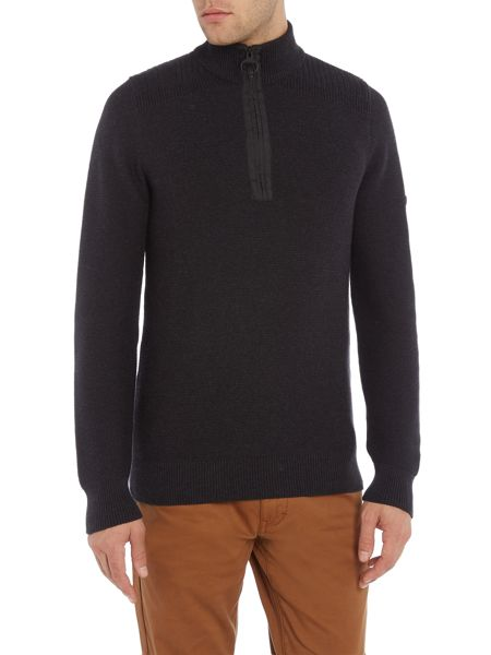 Barbour Half zip rib detail jumper