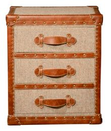 Tetrad Harris Tweed Trunks 3 Drawer Trunk