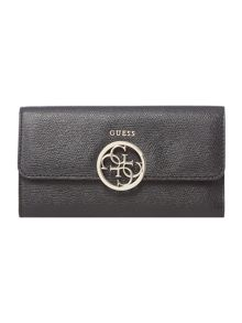 Guess Devyn black flapover purse with pouch