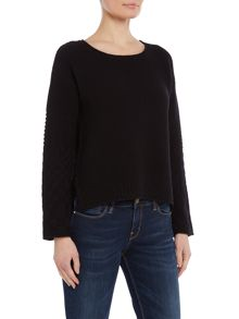 Oui Grid knit jumper