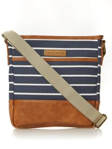 Brakeburn Stripe canvas cross body bag