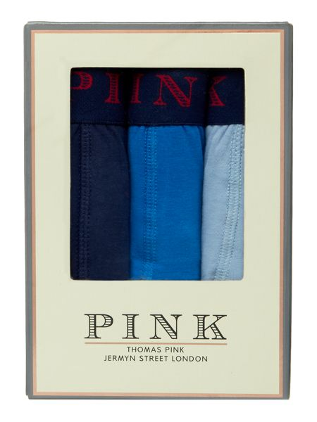 Thomas Pink 3 Pack Contrast Waistband Trunk