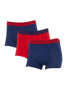 Thomas Pink 3 Pack Fleet Contrast Waistband Print Trunk