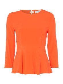 Ivy & Oak Longsleeve peplum top with round neck