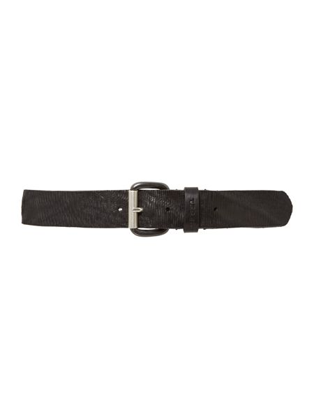 Diesel Rcoast Laser Cut Leather Belt