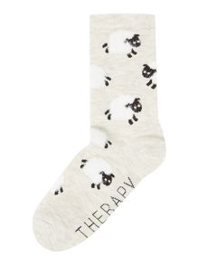 Therapy Eyelash sleep aop sock