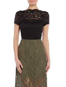 Vero Moda Cap sleeve square lace neck top