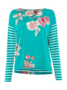 Joules Jersey and woven mix top
