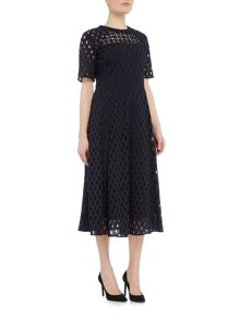 Ivy & Oak Brodery short sleeve fit and flare dress