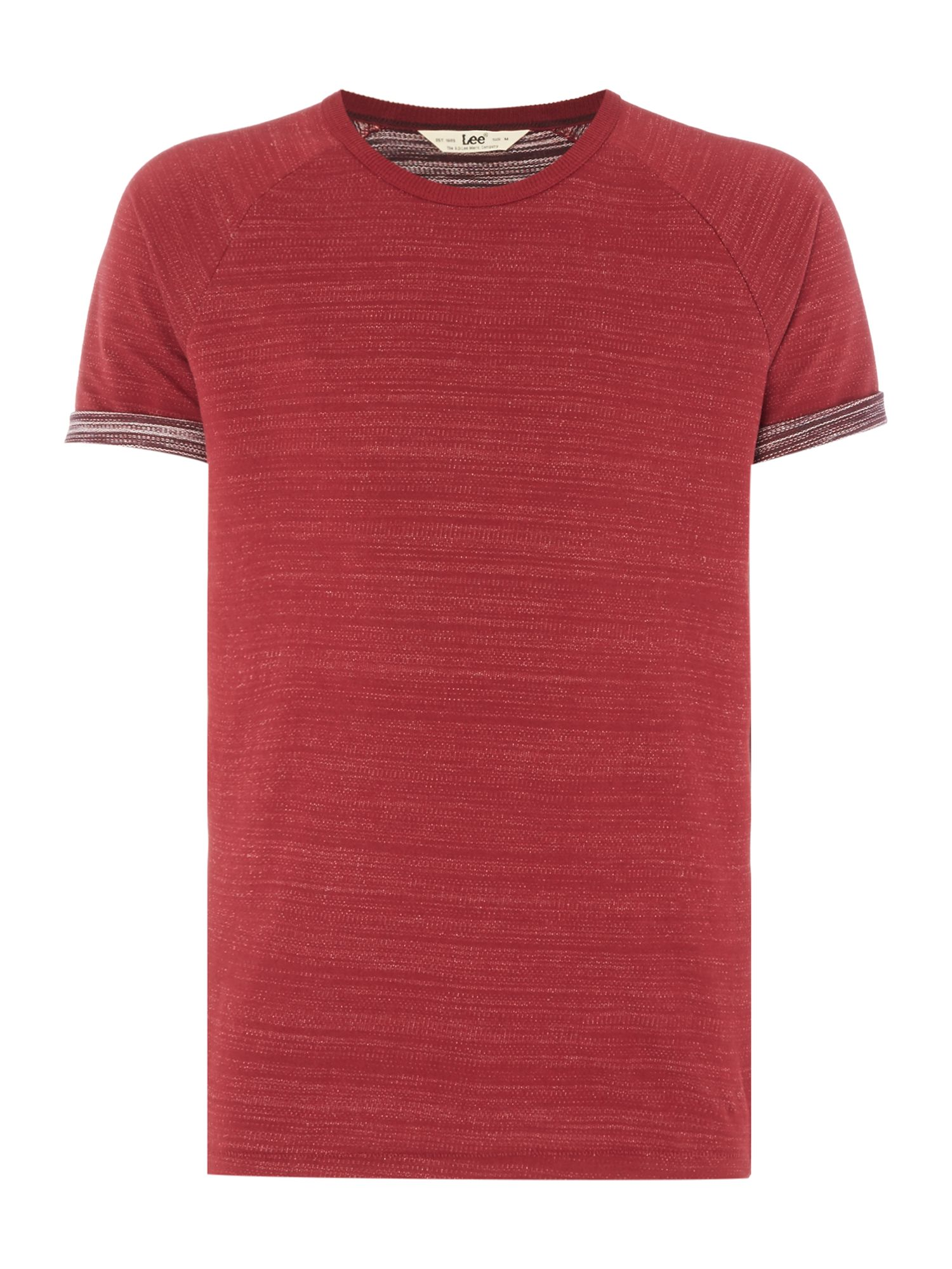 Men's Lee Turn-up sleeve raglan t-shirt, Dark Red
