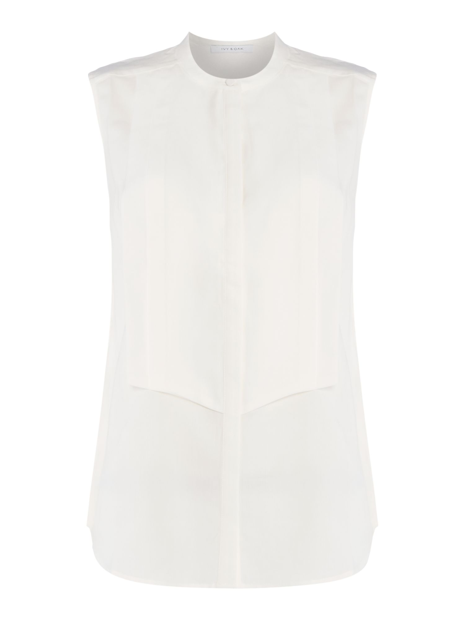 Ivy & Oak Sleeveless woven top, White