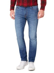 Lee Rider slim fit mid wash jeans
