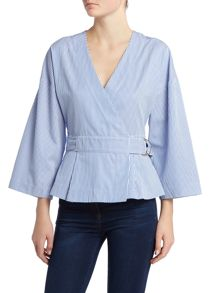 Ivy & Oak Wrap blouse with 3/4 sleeve