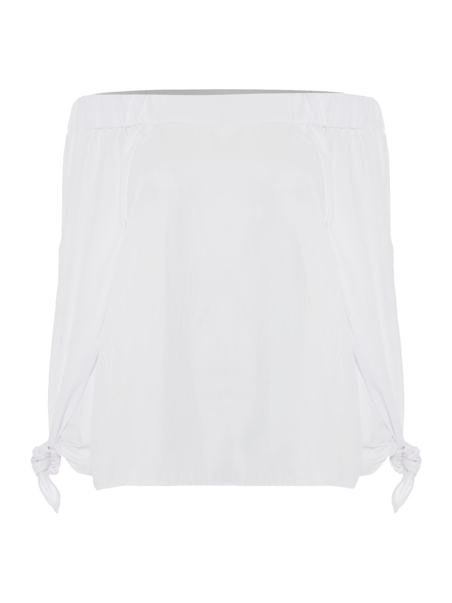 Ivy & Oak Longsleeve off shoulder bardot blouse, White