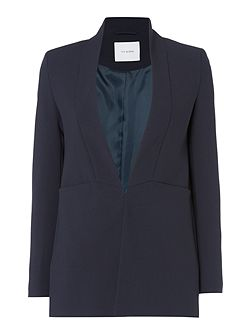 Longsleeve shawl collar blazer with front pocket