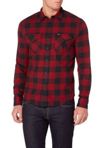 Lee 2 pocket western checked shirt