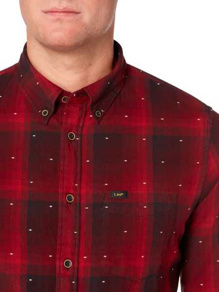 Lee Long sleeve dobby checked shirt