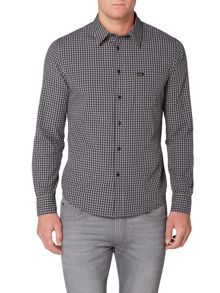 Lee Long sleeve gingham checked shirt